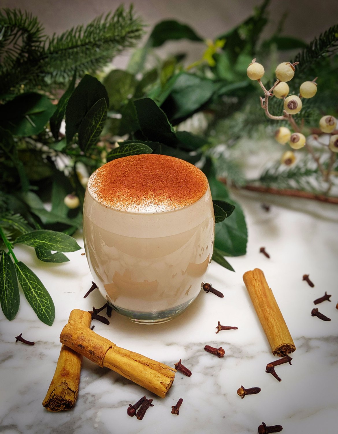 Chilled Traditional Christmas Eggnog