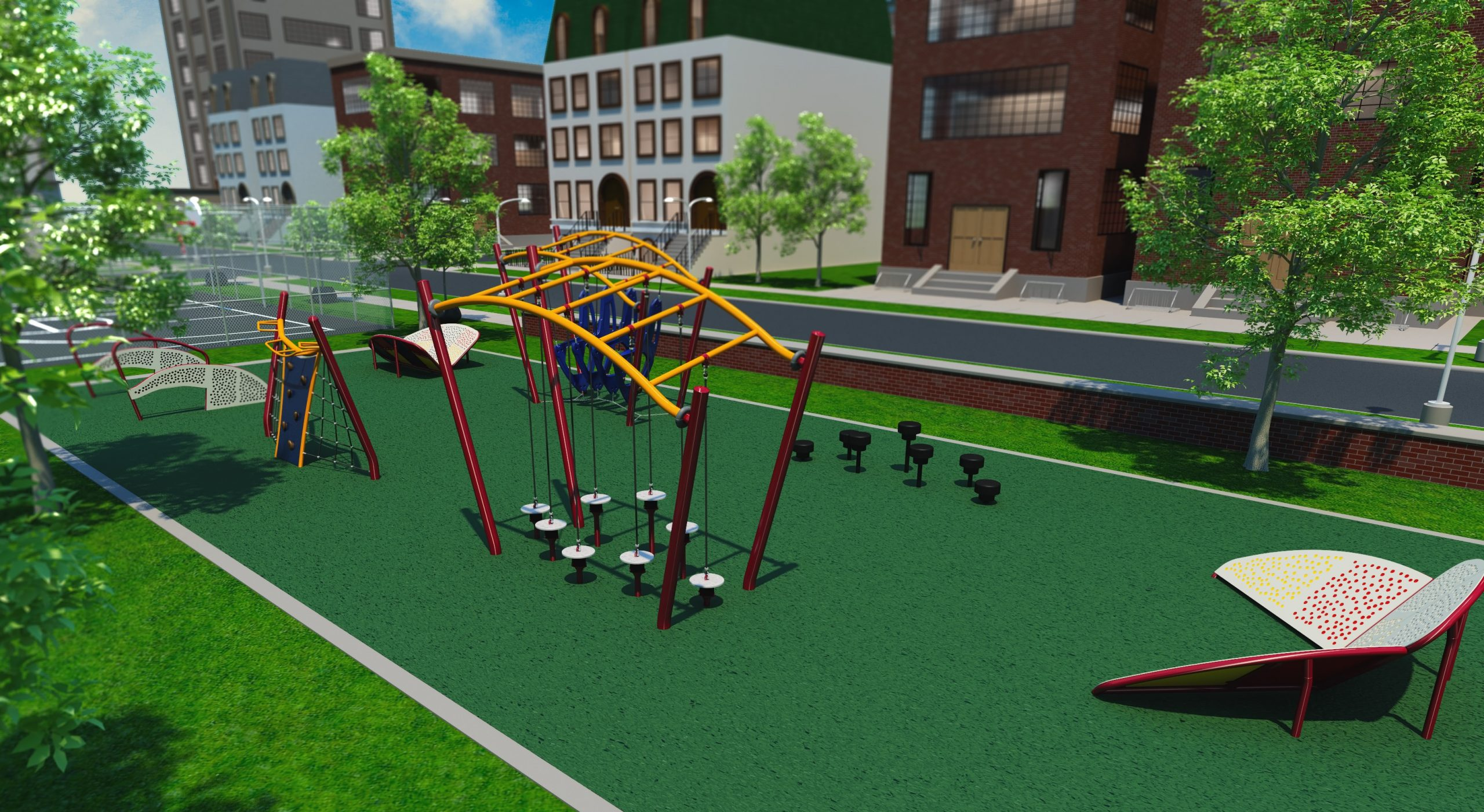 Colonial Park makeover launched with youth fitness course, sand play area — even something for doggie