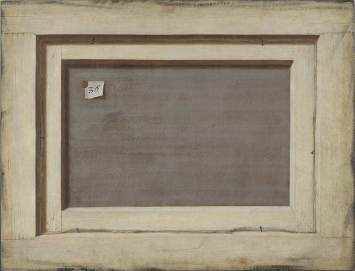 Cornelis Norbert Gijscrechts, Reverse of a Framed Canvas
