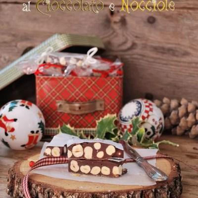 Torroncini teneri al cioccolato e nocciole