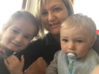 Alessandra e le nascite di Aurora e Niccolò