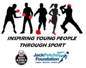 Logo of Inspiring Young People Through Sport funded by the Jack Petchey Foundation