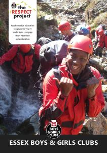 Image of the Respect Project 2016 leaflet front cover