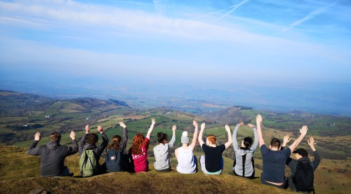Volunteer Training Wales Feb 2019 - Mountain Day, Lord Hereford's Knob