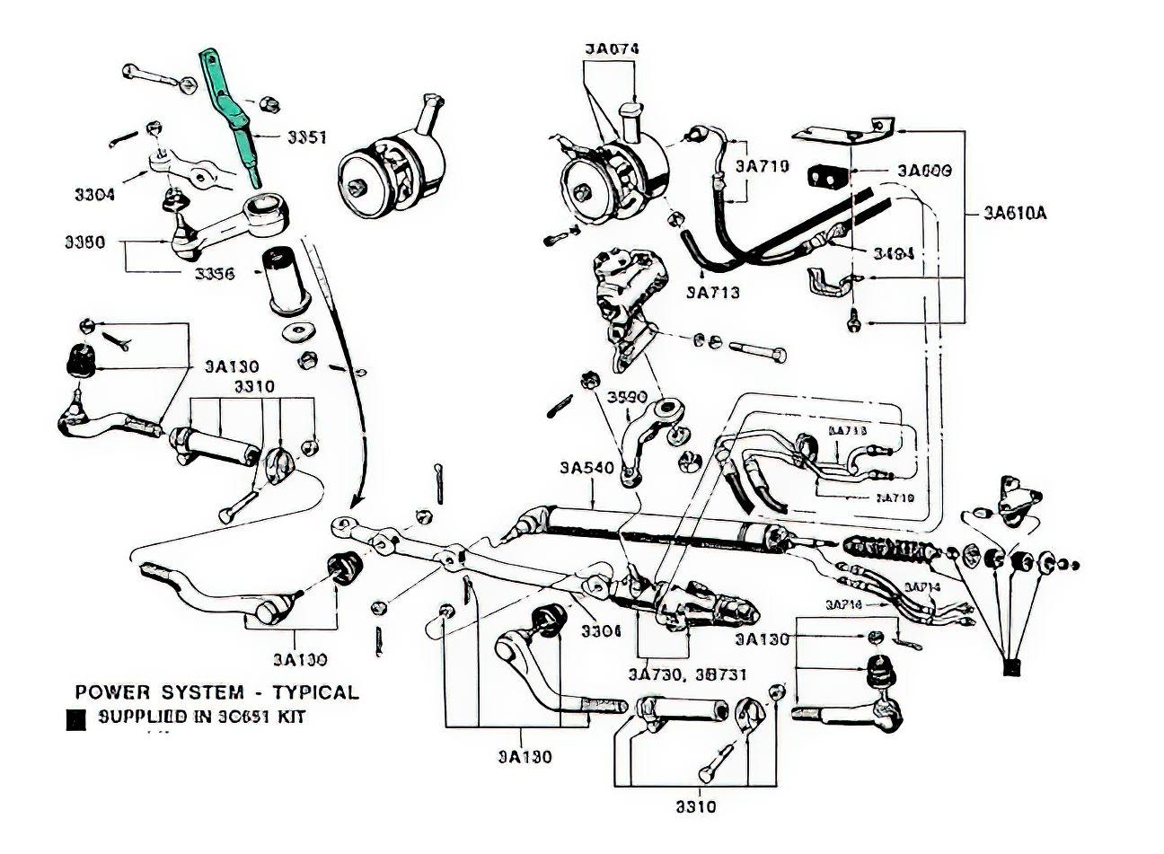 64 73 Mustang Idler Arm
