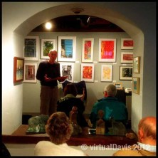 Jeff Moredock reading his poetry at the Adirondack Art Association in Essex, NY.