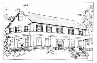 Hyde Gate, Essex, NY (Illustration by Kate Boesser for All My Houses, by Sally Lesh)