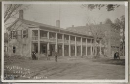 The Essex Inn and the Old Brick Block in Essex, NY circa 1908 (Thanks to Susie Drinkwine for sharing.)