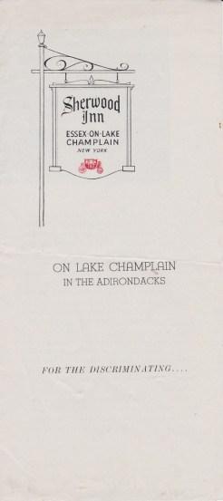 Sherwood Inn Brochure (Cover)