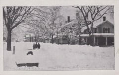 Winter Scene on Main St., Essex, NY (Credit: Unknown; Shared by Susie Drinkwine)