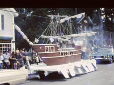 Essex Memorial Day Parade 1972: Ship Float (Credit: Harry and Judy Koenig)