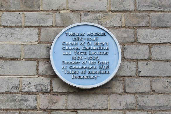 Thomas Hooker plaque Chelmsford