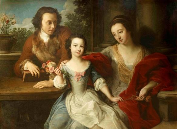 Batoni portrait of Barrett-Lennard family