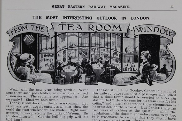 Another regular segment - From the Tea Room Windows