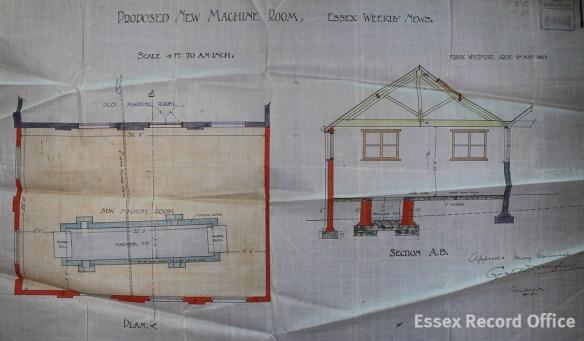 Building plan of the machine room, 26 High Street. (D/B 7 Pb74)
