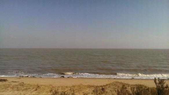 Photograph taken on beach at Bradwell-on-Sea