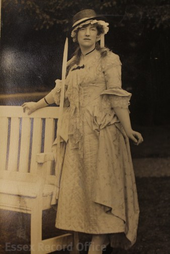 a186a9fa155 Christine pictured in costume for one of her plays during the First World  War.