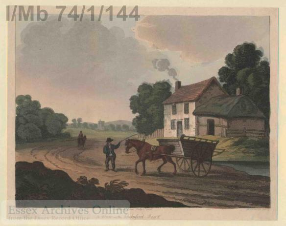 Colour engraving of Chelmsford Road, 1806