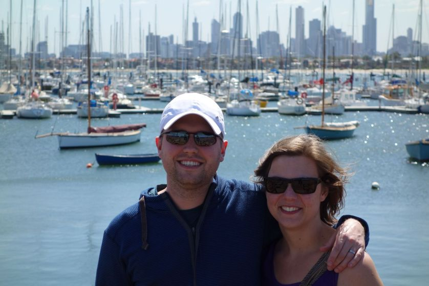 Behind us you can see a handful of the boats that the rich portion of the 4.4 million Melburnians in this fine city.