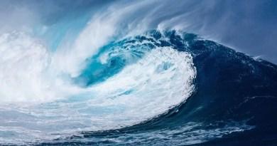 agitação no mar