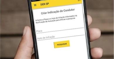 Aplicativo DER Online permite fazer defesa de autuação
