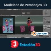 Modelado de personajes 3D con Blender - Natasha