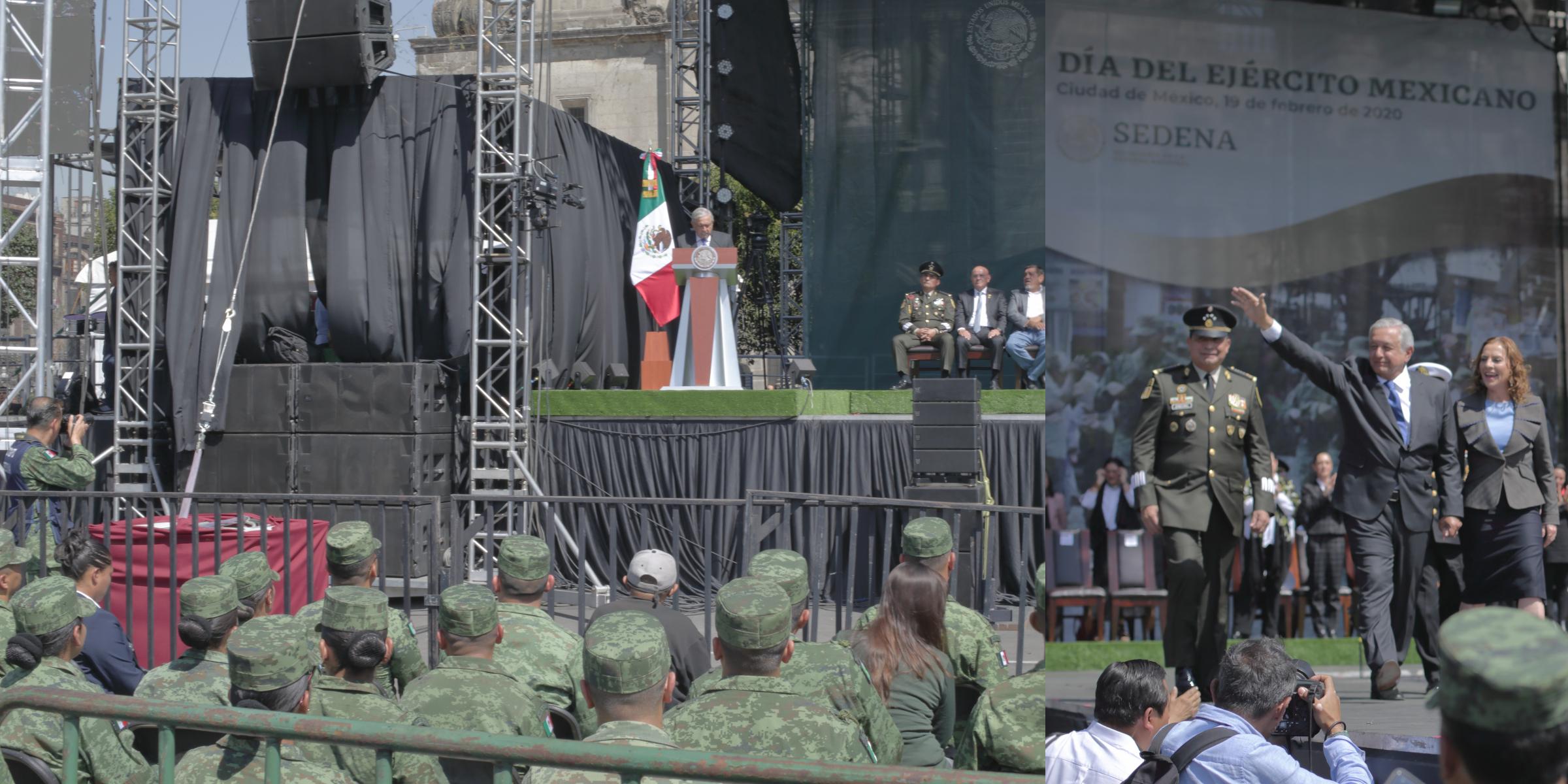 """Agradece AMLO a soldados no haber cedido a la """"traición y al golpismo"""""""
