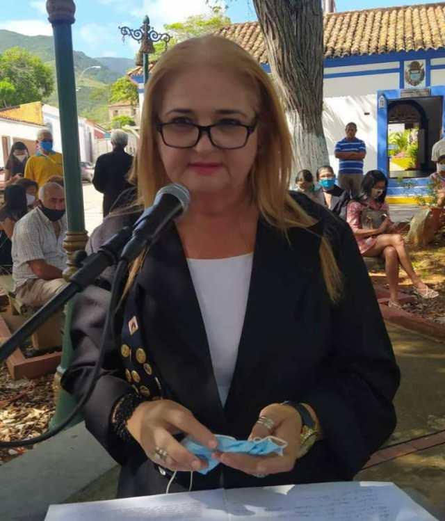 Carmen Marcelina Rodríguez, resaltó el heroísmo de Francisco Esteban Gómez