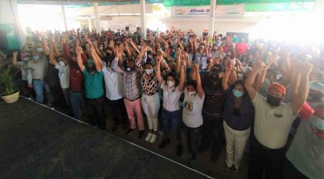 El pueblo del municipio Gómez asistió a apoyar al mandatario desde la población de Altagracia