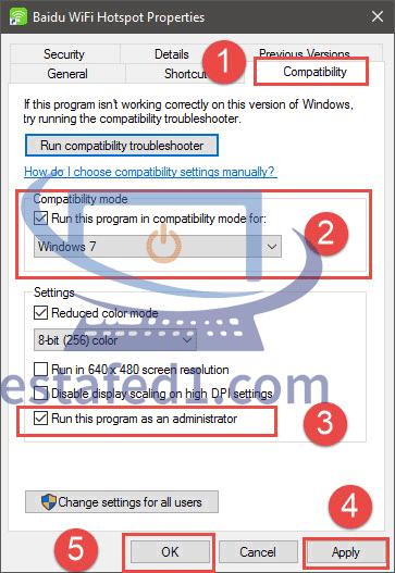 حل مشكلة برنامج baidu wifi hotspot