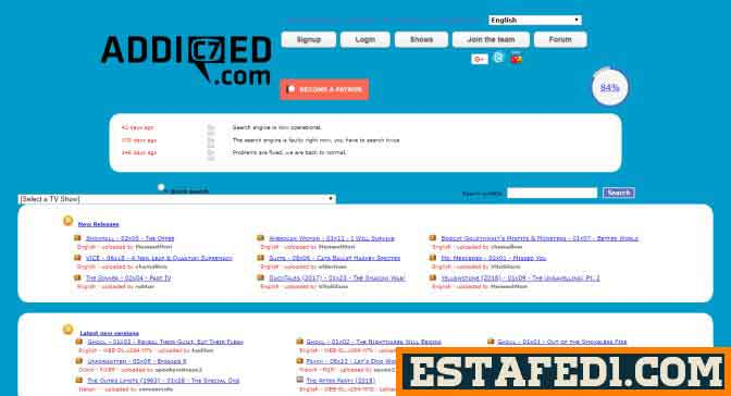 موقع Addic7ed يضم قاعدة بيانات تشمل عدد ضخم من ترجمات الافلام