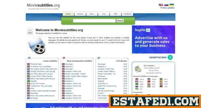 موقع Moviesubtitles لتنزيل أحدث ملفات الترجمة للأفلام والمسلسلات