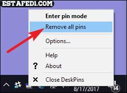 remove always on top option