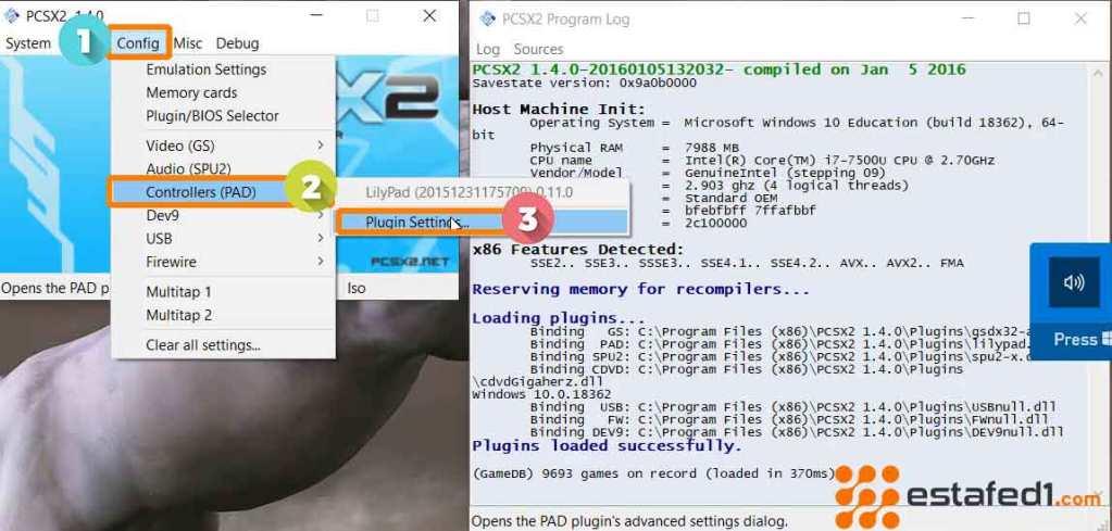 ضبط أفضل الإعدادات PCSX2 اعدادات اذرعة التحكم  step 1