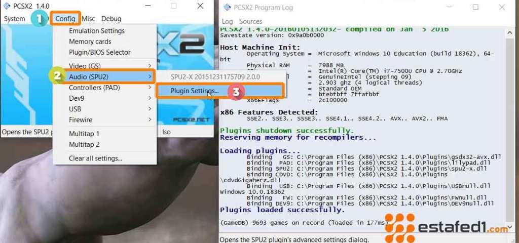 ضبط أفضل الإعدادات PCSX2 اعدادات الصوت step 1
