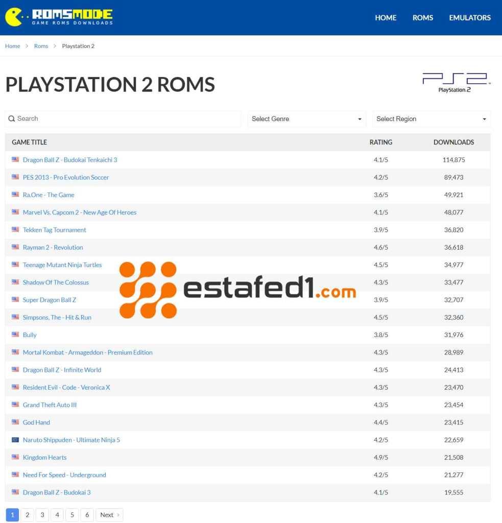 أفضل المواقع لتحميل ألعاب البلايستيشن PS2 وتشغيلها على برنامج PCSX2
