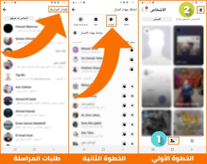 طلبات المراسلة في تطبيق ماسنجر الفيس بوك