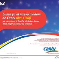 Venezuela: Nuevo Modem ADSL+WIFI, con Cantv se conecta toda la familia