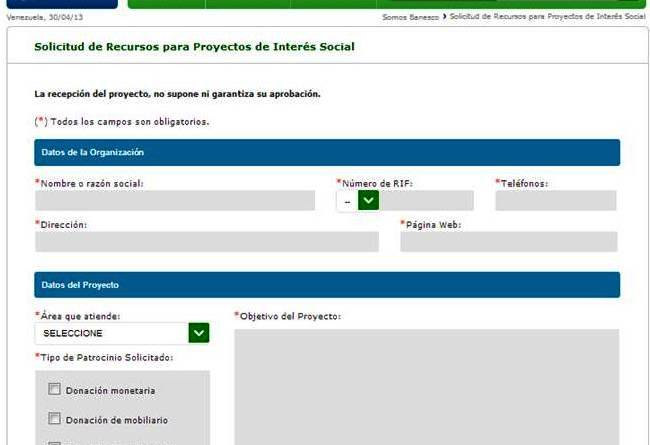 Ayuda social Banesco