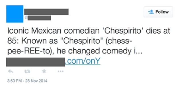 Tweet Chespirito