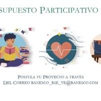 Últimos días para optar por el apoyo de Banesco a proyectos sociales