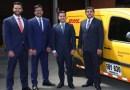 DHL Express presentó cinco nuevos vehículos 100% eléctricos para su flota en Colombia