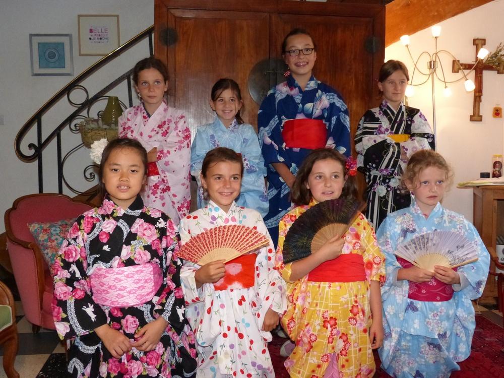 La pause des enfants en yukata