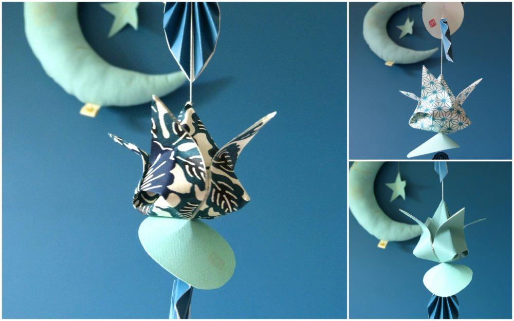 Guirlande de tulipes bleu céladon