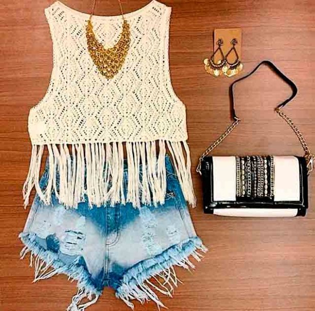 crochet-look