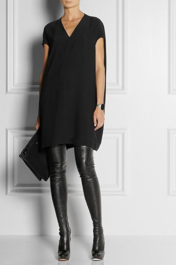 2015-siyah-uzun-çizme-uzun-bluz-kombini