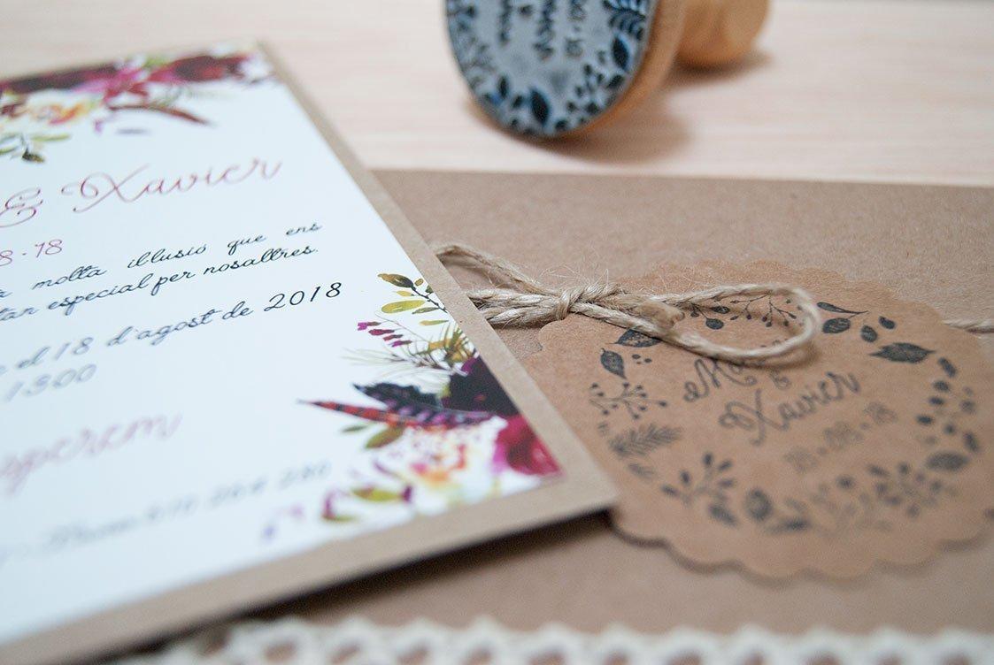 Invitacions flors - Estàs Convidat