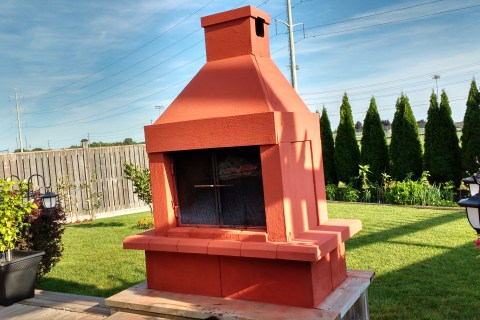 Outdoor Fireplace Renovation