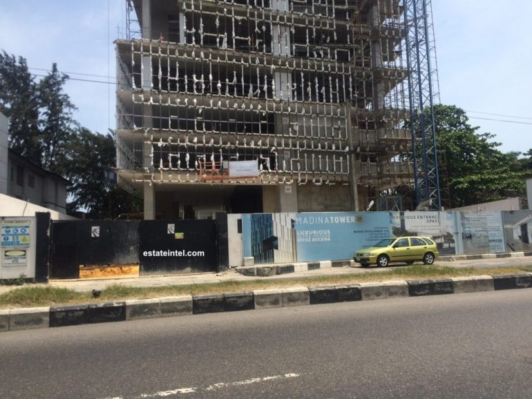 Madina Tower, Victoria Island - Lagos. Image source: estateintel.com. April 2016