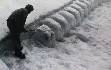 Limpando a neve